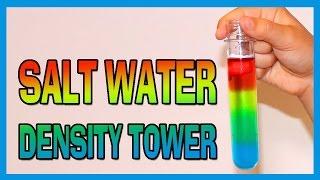 Salt Water Density Tower - EASY KIDS SCIENCE