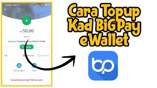 Cara Topup Card BigPay Ewallet (online banking)
