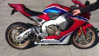 2017 Honda CBR1000RR SP2 Stock vs Yoshimura Alpha T slip-on