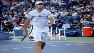 Beautiful Roddick grab his bulge.