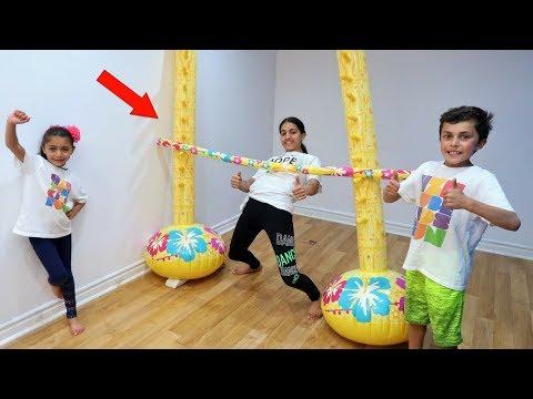 Kids Inflatable Limbo Challenge family fun vlog video