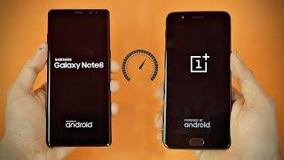 Samsung Galaxy Note 8 vs OnePlus 5 - Speed Test! (4K)