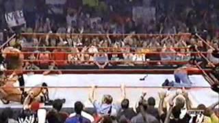 hbk vs  the rock vs hhh vs brock lesnar brawl