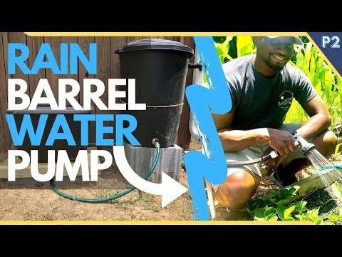 Rain Barrel System CHEAP Water Pump Setup
