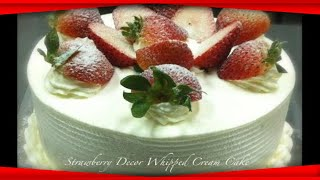 How to make a fruit and sponge cake with whipped cream | Recipes 'R' Simple