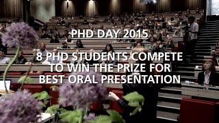 PHD DAY 2015 - Best Oral Presentation