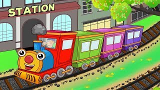 Down By The Station Song | Family Nursery Rhymes Songs for Kids | Cartoon for Children