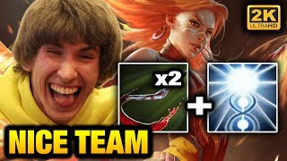 Dendi Lina with double Pudge hook + KOTL teamplay