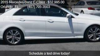 2015 Mercedes-Benz E-Class E 350 4dr Sedan for sale in Orlan