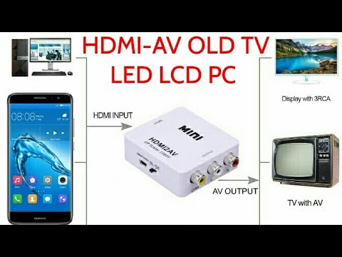 Xxx Mp4 HDMI AV How To Connect Smartphone To OLD TV LED TV HDTV 3gp Sex