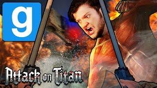 Gmod ATTACK ON TITAN! (Gmod Funny Moments)