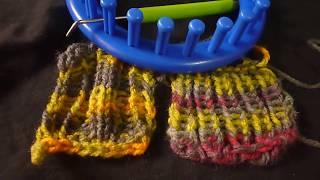 طريقة شغل ريب البداية وختم الشغل على النولLoom knit rib stitch
