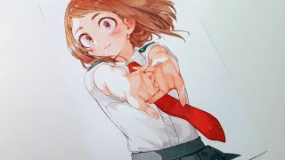 Drawing Uraraka Ochako - Boku no Hero Academia  「麗日 お茶子 - 僕のヒーローアカデミア」