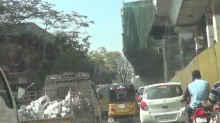 Nampally-Hyderabad-Trffic-Because of Metro Warks-15.03.2016
