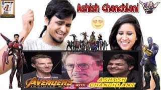 Avengers Infinity War with Ashish Chanchlani || Indian Reaction