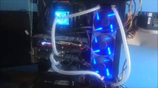 Water Cooling Mining Ethereum Rig: Amd Rx 570