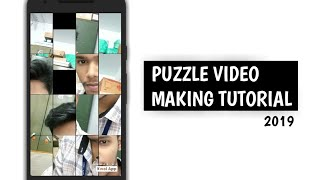 Create your photo puzzle video 2019   full screen whatsapp status video maker