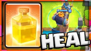 WIN THE HEAL SPELL! • Clash Royale NEW CARD!