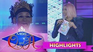 It's Showtime Miss Q & A Semifinals: Vice Ganda reveals something about Angelika Mapanganib