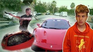 Jake Paul smashed my Ferrari's windshield **NOT CLICKBAIT**