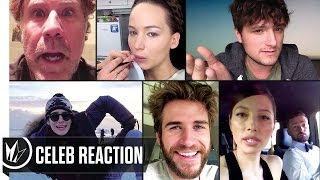 Lost in London - Celeb Reactions (Jennifer Lawrence, Liam Hemsworth, Josh Hutcherson)