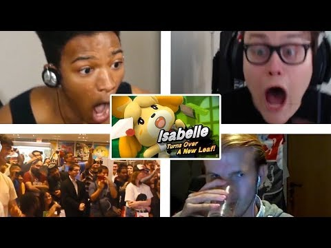 All Reactions to Isabelle Reveal Trailer Super Smash Bros. Ultimate