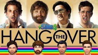 Sims HANGOVER 1 2 3 * Ed Helms + Bradley Cooper + Zach Galifianakis + Ken Jeong * Celebrity Sims 4