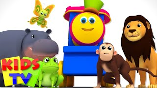 Bob The Train | Alphabets With Animals | Sound Song | ABC Nursery Rhymes | Baby Songs | Kids Tv