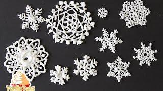 Royal Icing Snowflakes