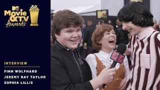Finn Wolfhard Crashes Jeremy Ray Taylor & Sophia Lillis Interview | 2018 MTV Movie & TV Awards