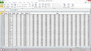 Freeze or Lock Row and Column Separately or Together in Excel