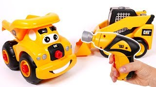 Skid Steer Dump Truck CAT Toy Vehicles Playset Power Screwdriver Take A Part Construction Machines f