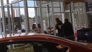 Raw video: Greenville dealership shooting