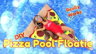DIY - How to Make: Pizza Pool Floaties   Miniature   Really Floats
