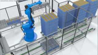 Industrial Robot Animation Simulation 3D CAD (KUKA, ABB, Motoman, Fanuc, Kawasaki) Factory Cell