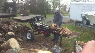 HOMEMADE LOG SPLITTER WITH AUTO RETURN CYLINDER