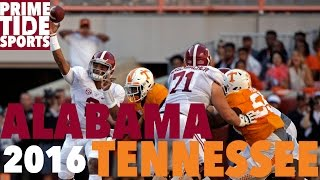 #1 Alabama @ #9 Tennessee (2016 Highlights)(Prime Sports)