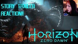 HORIZON ZERO DAWN - NEW STORY TRAILER PS4 - REACTION VIDEO!