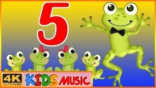 Five Little Speckled Frogs & More Nursery Rhymes with LYRICS - Cartoon Animation Songs for Kids