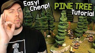 Modular Pine Trees For D&D Tutorial (Black Magic Craft Episode 090)