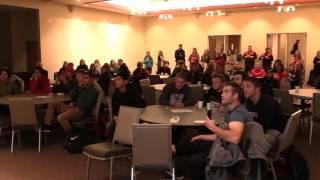 Men's soccer reaction at NCAA selection show