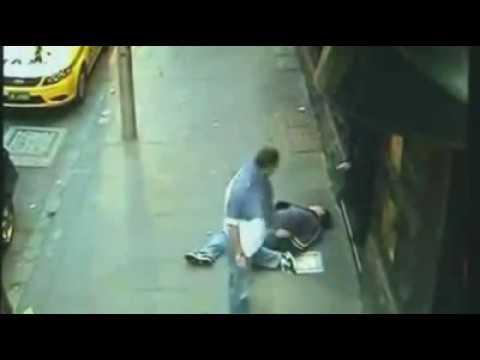 CCTV footage shows brutal Melbourne assault