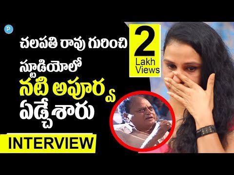 Xxx Mp4 Actress Apoorva About Chalapathi Rao Comments Telugu Popular TV 3gp Sex