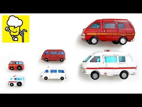 Ambulance Ratchet and Red Van Ironhide transformer トランスフォーマー  變形金剛  Robots