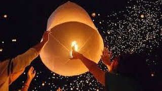 Thailand lights up the night sky with lantern festival  Amazing thousands of Sky lantern  2016