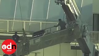Shocking footage shows window washers rescued from scaffold in Oklahoma