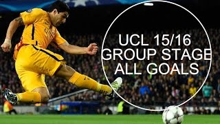 UEFA Champions League 2015-16 Group Stage All GOALS | Part 1
