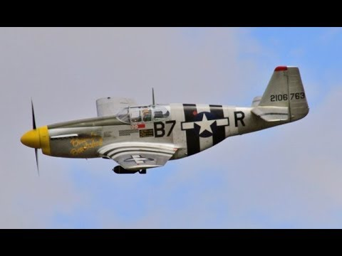 2 X 1/5 SCALE RC NORTH AMERICAN P-51 MUSTANGS - TJD GREGG & NIGEL AT WILLIS WARBIRDS - 2017