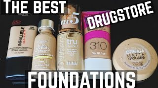 THE BEST DRUGSTORE FOUNDATIONS with DEMO FOR EACH