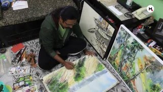 Indian Artist Rajat Subhra Bandopadhyay : Aquarellist From India
